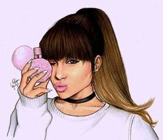 Imagem de ariana grande and drawing