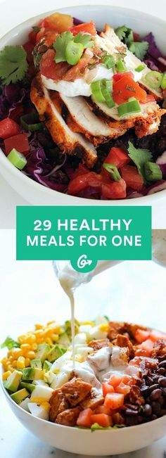 Cooking for One: 29 Insanely Easy, Healthy Meals You Can Make in Minutes #healthy #recipes http://greatist.com/health/healthy-single-serving-meals