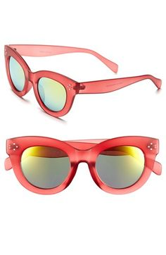 FE NY 49mm Mirror Lens Sunglasses available at #Nordstrom