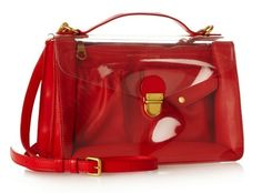 Marc by Marc Jacobs Clearly PVC and Leather Shoulder Bag