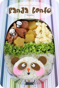 Kawaii panda bento