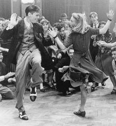 Christian Bale and Robert Sean Leonard in Swing Kids (1993)