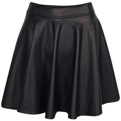 Boohoo Jules Leather Look Skater Skirt ($32) ❤ liked on Polyvore featuring skirts, bottoms, saias, faldas, flared skirt, vegan leather skirt, faux leather skirt, skater skirt and fake leather skirt