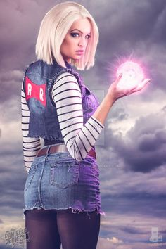 Android 18 Dragon Ball Z Cosplay by DanielleDeNicola.deviantart.com on @DeviantArt - More at https://pinterest.com/supergirlsart #android18 #dbz #cosplay #girl - Visit now for 3D Dragon Ball Z compression shirts now on sale! #dragonball #dbz #dragonballsuper