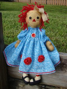 *RAGGEDY ANN*...Well..she's an adorable modern R.Ann...♥ 'rag' dolls!!..dkw