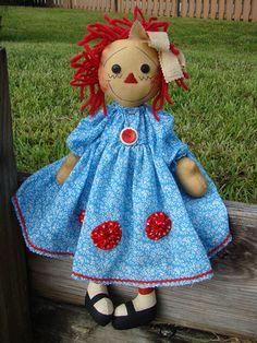 *RAGGEDY ANN*...Well..she's an adorable modern R.Ann...♥ 'rag' dolls!!..dkw