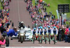 Giro d'Italia 2014 - Team Orica GreenEdge en route to winning stage 1