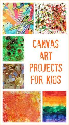 Canvas art ideas for kids to make throughout the year!