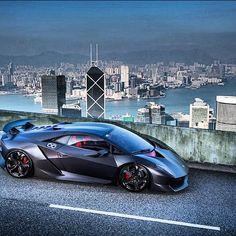 Lamborghini Sesto Elemento overlooking its territory
