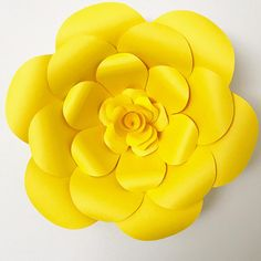 PDF Paper Flower Template with Base DIGITAL version Original