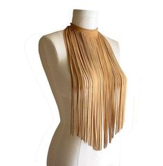 Items similar to LONG FRINGE NECKLACE Suede Necklace Leather fringe necklace Suede fringe Camel tan Hippie jewelry Stage wear Tribal necklace Fall Fashion on Etsy Fringe Necklace, Tribal Necklace, Leather Necklace, Diy Necklace, Leather Jewelry, Collar Necklace, Diy Fashion Projects, Long Fringes, Hippie Jewelry