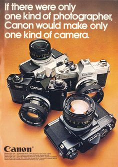 Canon Cameras - Photography Tips You Need To Know About Old Cameras, Vintage Cameras, Canon Cameras, Canon 35mm, Canon Ef, Foto Canon, Camera Aesthetic, Kinds Of Camera, Posters Vintage