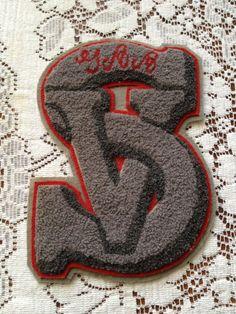 Vintage Chenille Varsity Letter Letterman 'SV' by JunkyardJezebel, $15.00