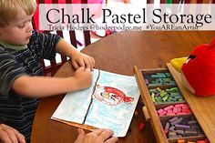 Chalk pastel storage - from plastic trays to drawers to cardboard box. Because you are an artist!