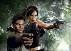 Lara Croft & Nathan Drake by jionni1986 the world needs an uncharted-tomb raider crossover. It really does. Please.