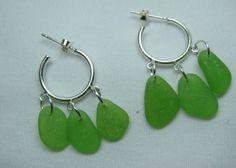 seaglass earings
