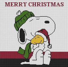 Christmas Afghan, Christmas Yarn, Snoopy Christmas, Christmas Crafts, Xmas, Cross Stitch Patterns, Crochet Patterns, T Craft, Iron Beads