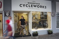 Woodstock Cycleworks has to be the coolest neighbourhood bicycle shop in Cape Town. Not only do they sell sparkling new bicycles, repair and service your oldies, they also refurbish old beauties and have a range of vintage bikes on offer! Bicycle Store, New Bicycle, Cycling Events, Bauhaus Art, Urban Cycling, Home Board, Shop Fronts, Vintage Bikes, Cool Bikes