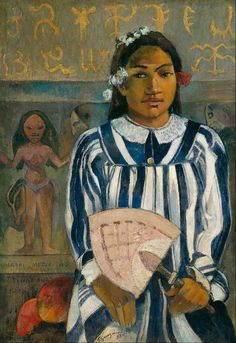 Tehamana Has Many Ancestors (Merahi metua no Tehamana) by Paul Gauguin - Tehamana Has Many Ancestors by Paul Gauguin emerged from the Impressionist's trips to Tahiti. Learn about Tehamana Has Many Ancestors by Paul Gauguin. Paul Gauguin, Henri Matisse, Henri Rousseau, Gauguin Tahiti, Georges Seurat, Impressionist Artists, Art Institute Of Chicago, Pablo Picasso, Impressionist