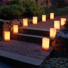 Flickering LED Luminary Light with 6 Amber LED lights Battery Operated $5.49 each / 3 for $4each