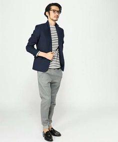 テーラードジャケットは着回し力抜群の黒か紺を選ぼう | メンズファッションマガジン TASCLAP Looks Style, My Style, Style Men, Fasion, Fashion Outfits, Fashion Images, Fall Winter, Autumn, Mens Fashion