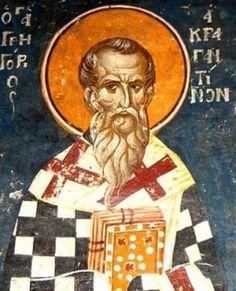 Orthodox Icons, Byzantine, Saints, Presents, Saint Grégoire, Painting, People, Mosaics, Fresco