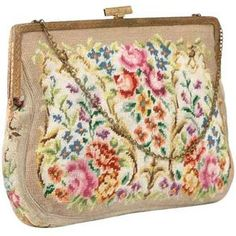 Vintage Floral Tapestry Bag, my grand ma had, then i'm missing her