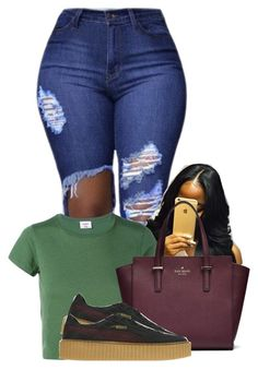 9:52 Needed Me by gawdesz on Polyvore featuring polyvore, fashion, style, RE/DONE, Puma and clothing