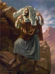 """Lamb of God by James Seward ~ Luke 15:6b  """"...Rejoice with me, for I have found my sheep which was lost.""""  James E. Seward has been painting religious themes for more than 40 years. He is an ordained minister and teaches as well as paints. DF"""