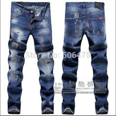 2015 New Arrivals fashion DSQ brand Men's Jeans Classic casual denim men's beggar pants skinny straight D2 jeans free shipping $50.50