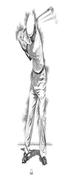 Ben Hogan - Back Swing - Golf Illustration | Ben Hogan Golf Lessons | Golf Swing Training | Golf Lessons For Women. economical lesson bundle to fulfill your goals and budget ... #golfstagram #golffashion #Golf Instruction