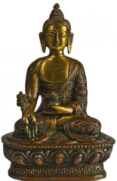 The Medicine Buddha Holding Fruits and Leaves of Myrobalan Plant