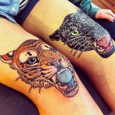 cool knee tattoos ( not for me but beautiful none the less)