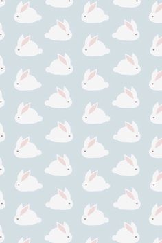 Bunny wall paper print