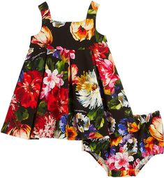 86f20c441 Floral Print Pleated Dress w/ Matching Bloomers, Size 6-30 Months