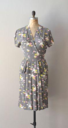vintage 1940s dress | 40s novelty print