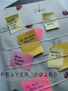 Easy Prayer Board to keep track of all our prayer intentions!