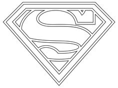 Superman Logo Coloring Pages Free