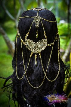 Wings of Gold stunning bridal circlet by BlingGoddessBoutique, $189.00