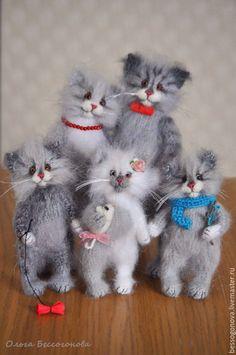 Купить семейство КОШАЧЬИХ игрушки кошки - игрушка кот, игрушка котик, игрушка котенок