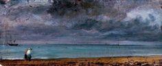 John Constable, (English, 1776-1837): Brighton Beach, 1824.