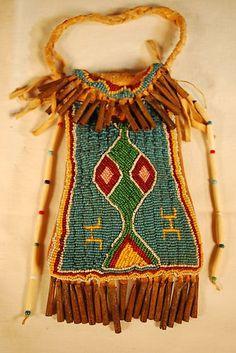 Large Beaded Srike - A - Lite Light Bag Sioux Cheyenne lazy stitch ...