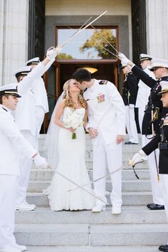 Grand recessional, military style. #wedding  Photography: Natalie Franke - nataliefrankephotography.com  View entire slideshow: Salute to Military Weddings on http://www.stylemepretty.com/collection/295/