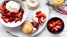 Simply stunning: Strawberry and cream shortcakes.