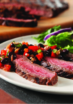 Flank Steak with Black Bean Salsa – This easy bean salsa dresses up ...