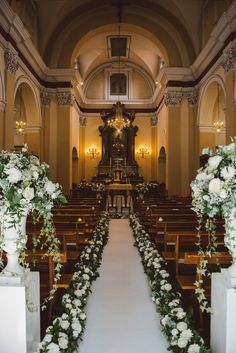 Wedding Ceremony With Floral Aisle - Tiffany Green Destination Wedding In Italy . Wedding Ceremony With Floral Aisle - Tiffany Green Destination Wedding In Italy With Glamorous Outdoor Seating Area And . Simple Church Wedding, Wedding Church Aisle, Church Wedding Flowers, Wedding Ceremony Ideas, Chapel Wedding, Church Weddings, Wedding Reception, Church Pews, Vegas Weddings