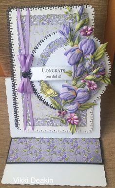 Dana Frakes's media statistics and analytics Tattered Lace Cards, Bday Cards, Paper Flower Tutorial, Embossed Cards, Beautiful Handmade Cards, Easel Cards, Die Cut Cards, Silk Ribbon Embroidery, Create And Craft