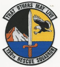 US AIR FORCE PATCH - 130TH RESCUE SQUADRON)
