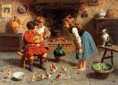 Eugenio Zampighi  Italian Painter  1859 AD - 1944 AD