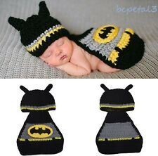 Newborn Baby Girls Boys Crochet Knit Costume Photo Photography Prop Outfits New Superhero Hats, Baby Superhero, Baby Batman, Crochet Baby Clothes, Newborn Crochet, Elodie Details, Baby Boy Hats, Girls Hats, Crochet For Boys